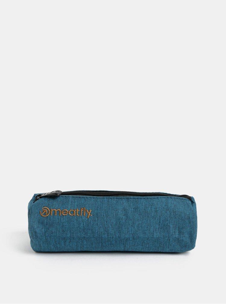 Černo-modrý batoh s potiskem a penálem Meatfly 20 l