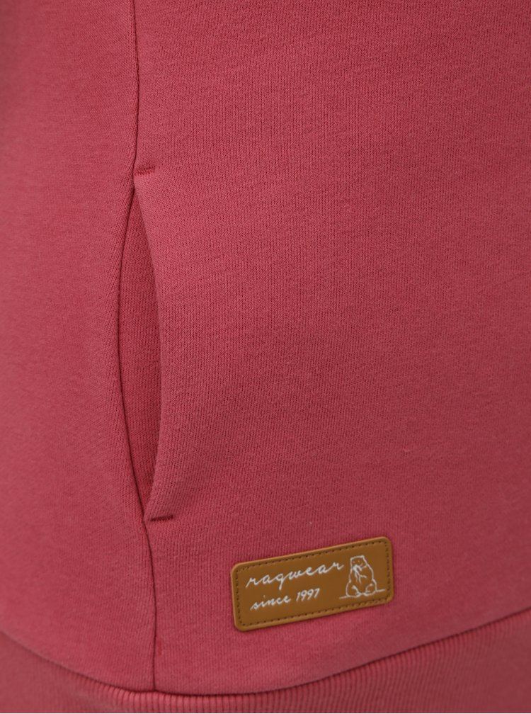 Růžová dámská mikina s kapucí Ragwear
