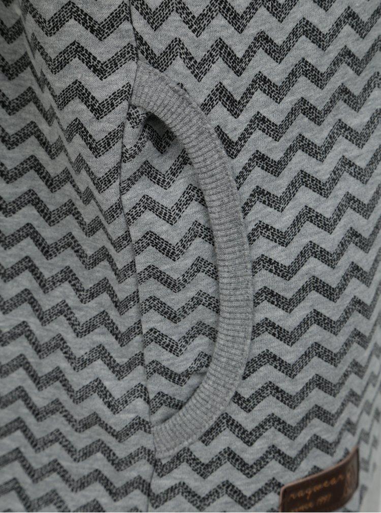 Šedá dámská vzorovaná mikina s límcem Ragwear