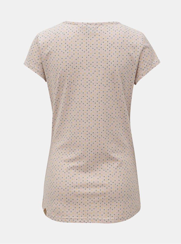 Ružové dámske vzorované tričko Ragwear