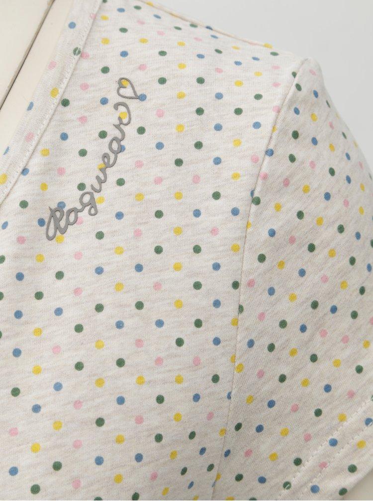 Světle šedé dámské vzorované tričko Ragwear