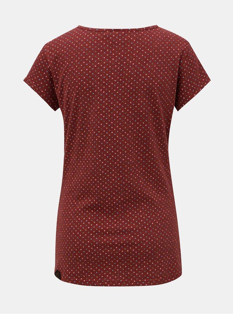 Vínové dámske vzorované tričko Ragwear