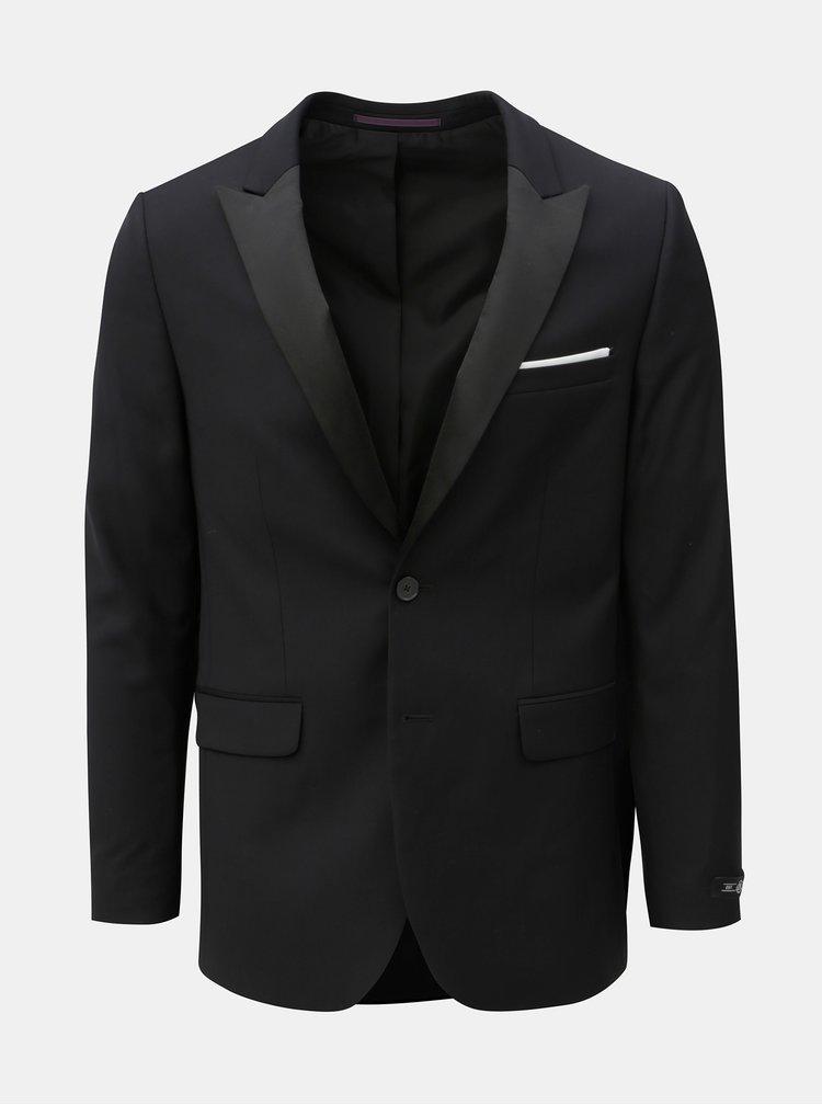 Černé oblekové skinny fit sako Burton Menswear London