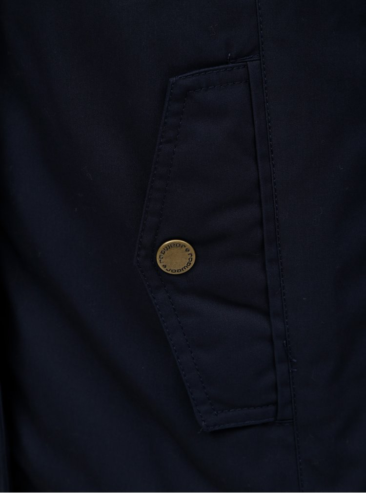Tmavě modrá dámská zimní bunda s kapucí Ragwear Monade