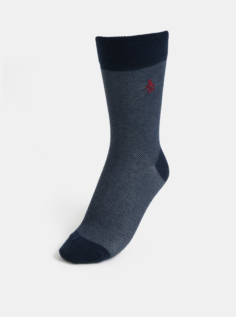 Súprava troch párov ponožiek v modrej, žltej a vínovej farbe Original Penguin