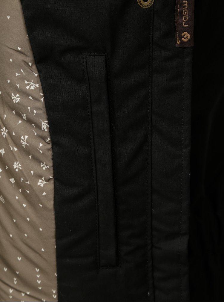 Černá dámská zimní bunda s kapucí Ragwear Monade