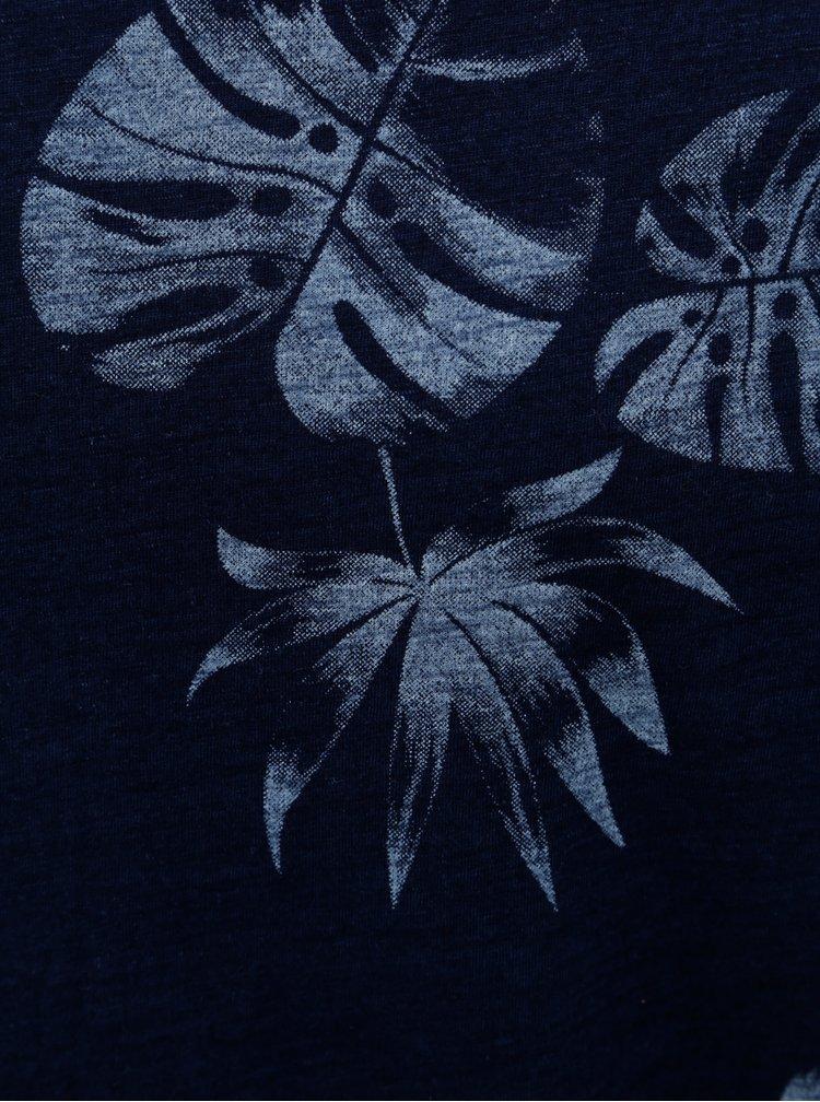 Tricou albastru inchis cu imprimeu ONLY & SONS Malik