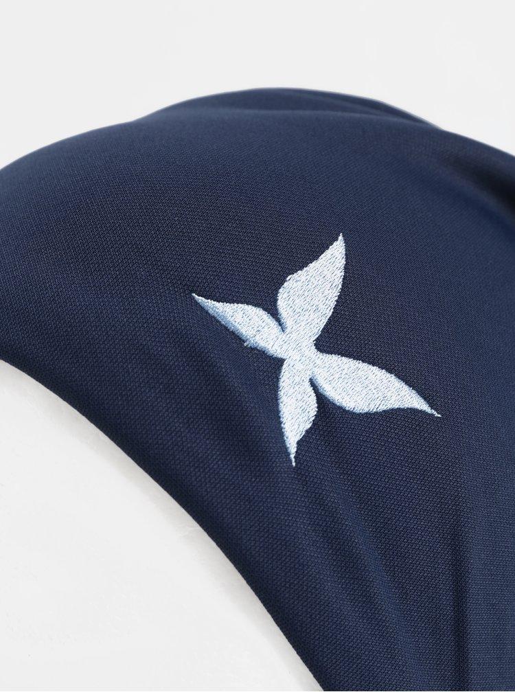 Caciula albastru inchis cu broderie de fluture Kari Traa