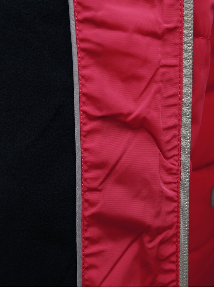 Růžová holčičí zimní prošívaná bunda Name it Mil