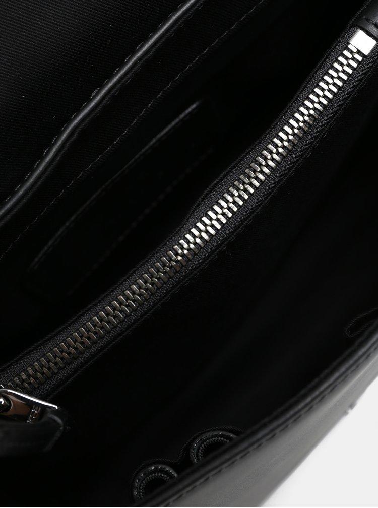 Červeno-černá kožená kabelka s hadím vzorem BREE Issia 6