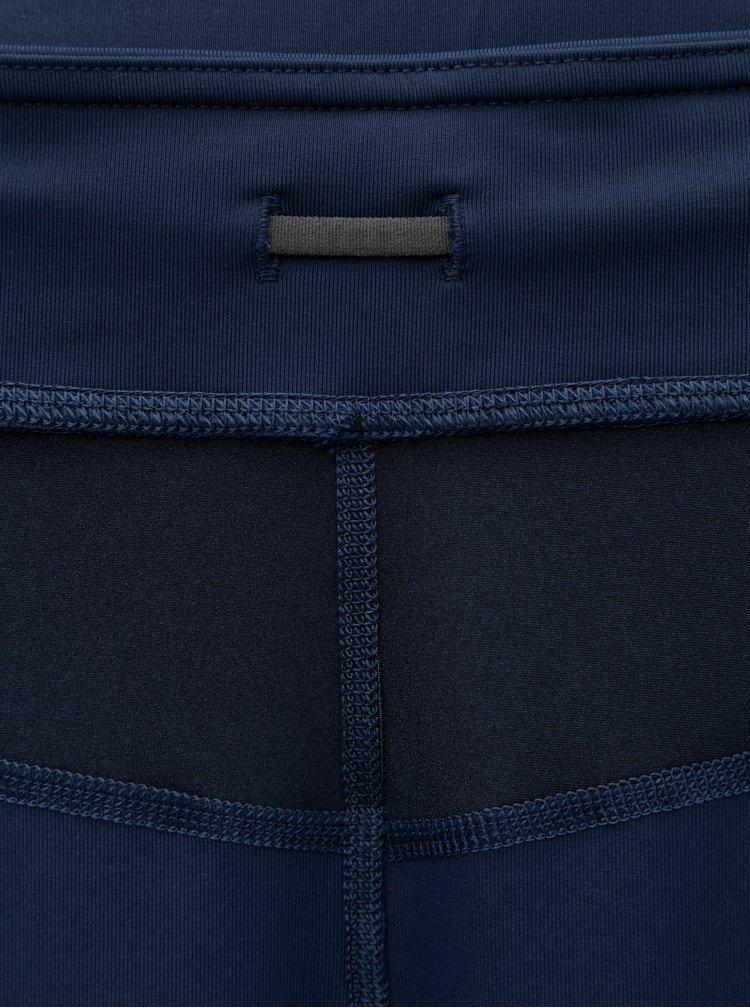 Tmavě modré funkční vzorované legíny Kari Traa