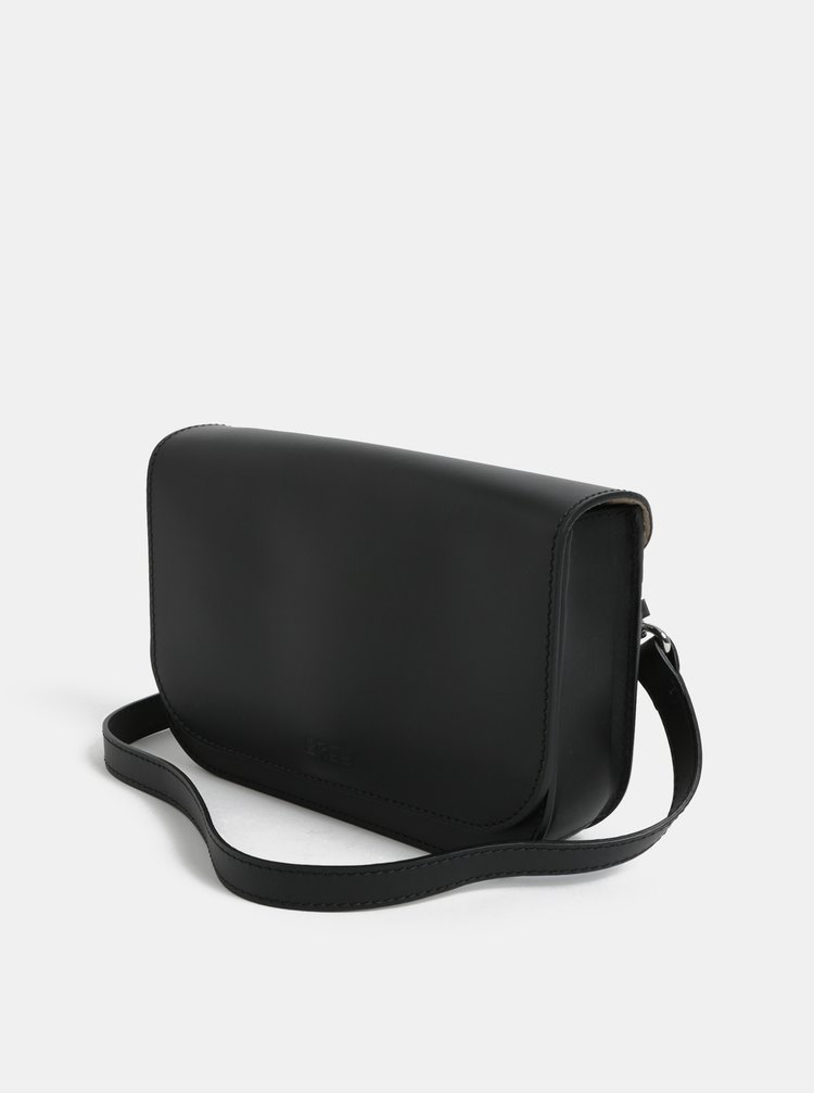 Černá malá kožená crossbody kabelka BREE Cambridge 15