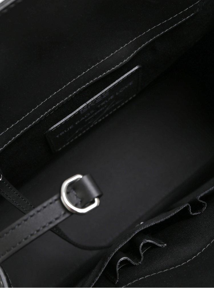 Černá kožená kabelka BREE Cambridge 14