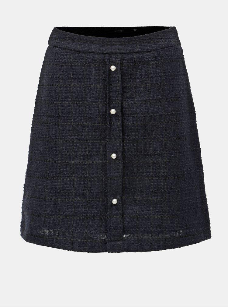 Tmavě modrá sukně VERO MODA Harma