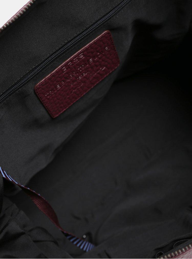 Geanta bordo din piele BREE Icon
