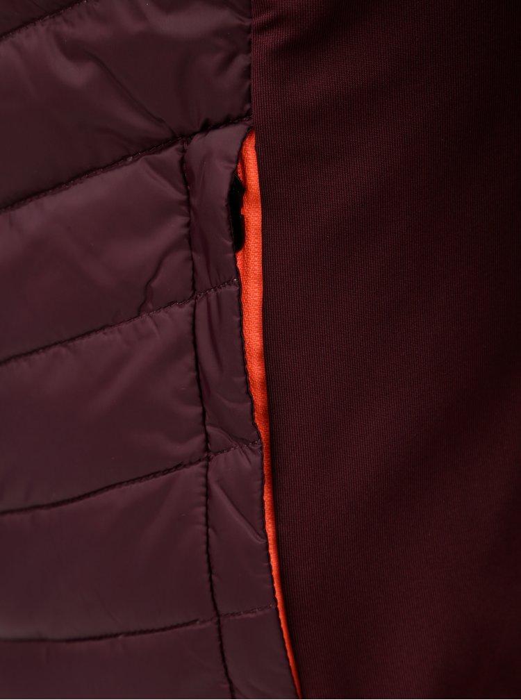Vínová prošívaná péřová bunda Kari Traa