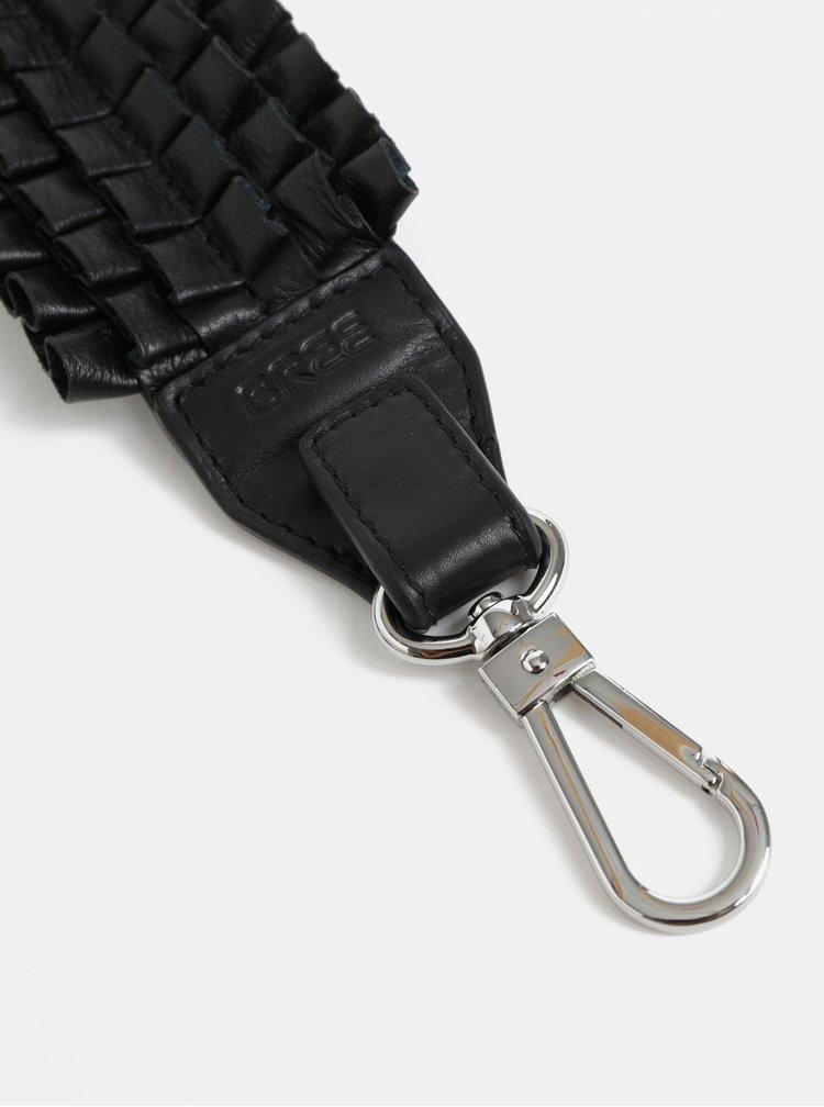 Černý kožený popruh BREE Cl Leather 917