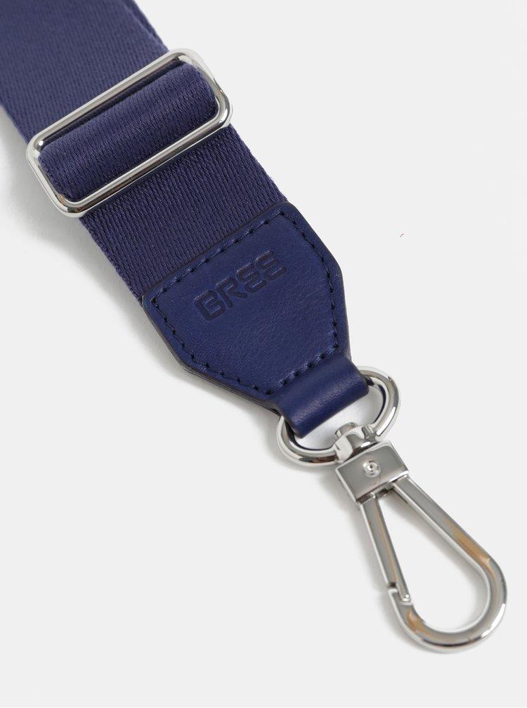 Modrý ramenní popruh s karabinou ve stříbrné barvě BREE Cl 901