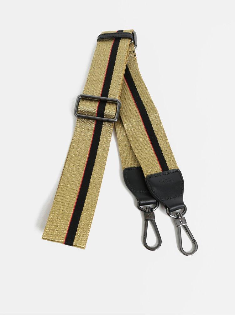 Popruh v zlatej farbe s karabínami v sivej farbe BREE CI 902 Special