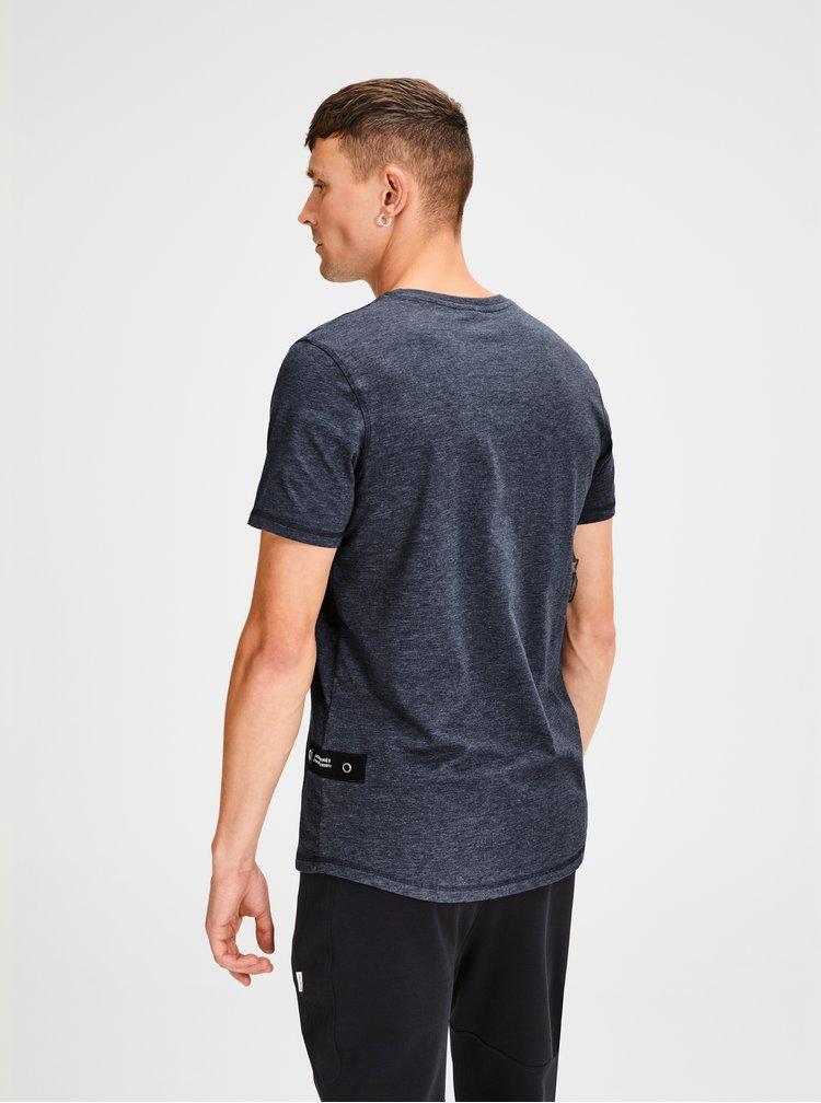 Tmavě modré žíhané tričko Jack & Jones Gel