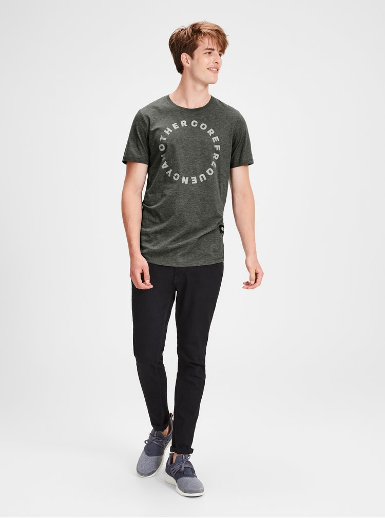Tricou verde inchis melanj Jack & Jones Gel