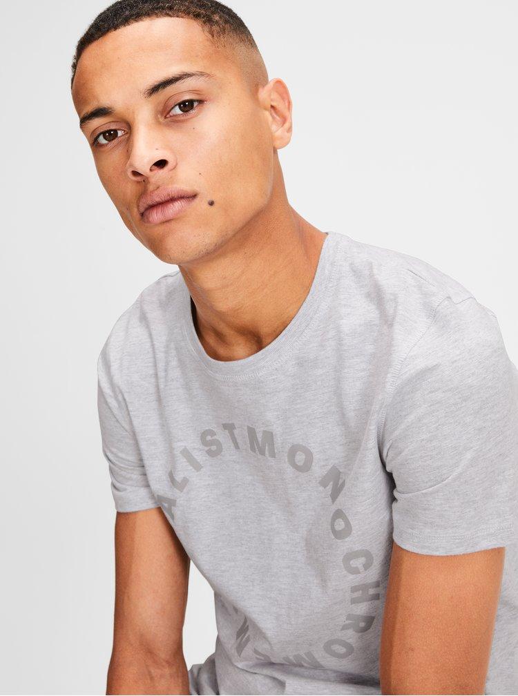 Svetlosivé melírované tričko Jack & Jones Gel