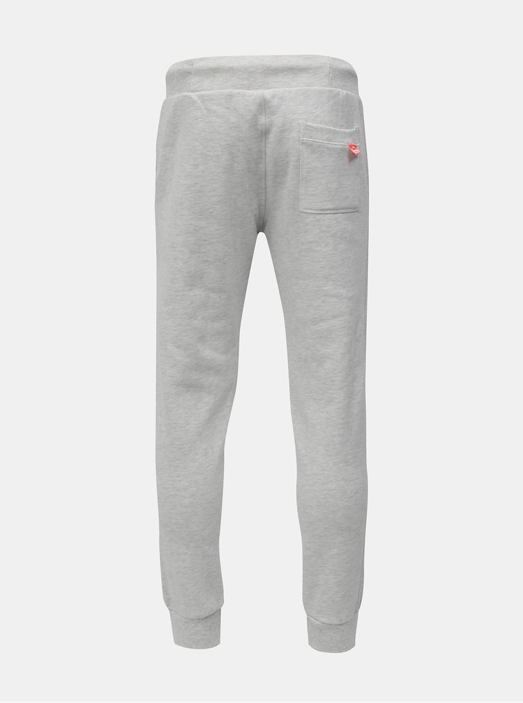 Pantaloni sport gri deschis melanj Superdry