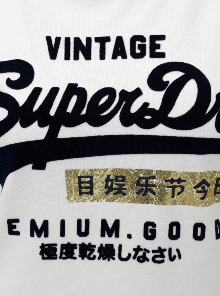 Tricou de dama alb cu imprimeu Superdry