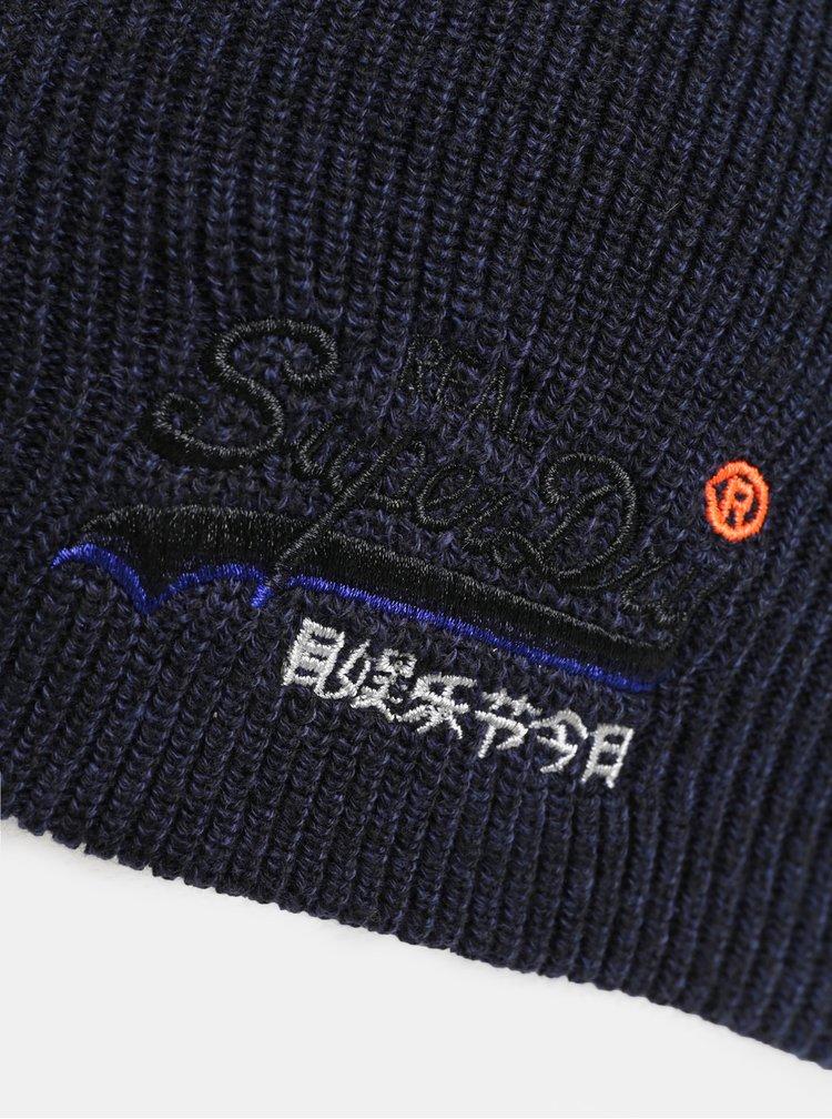 Tmavě modrá pánská čepice Superdry