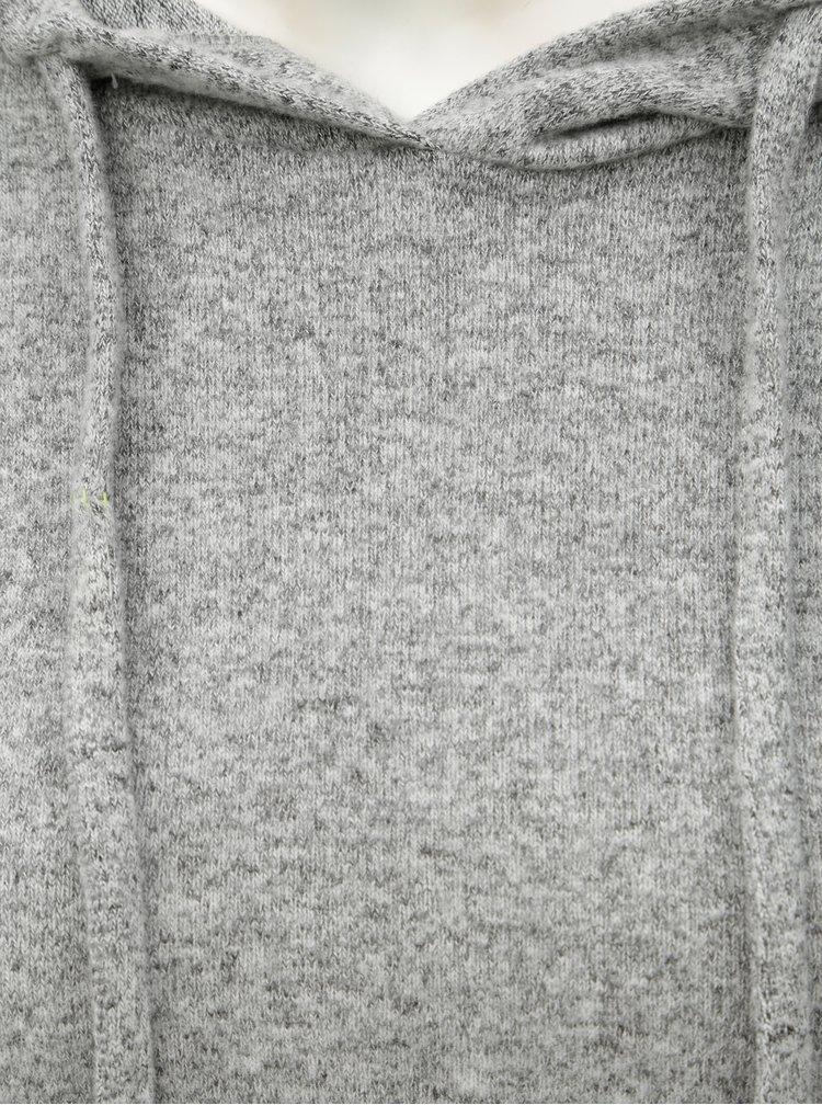 Šedý žíhaný svetr s kapucí Dorothy Perkins