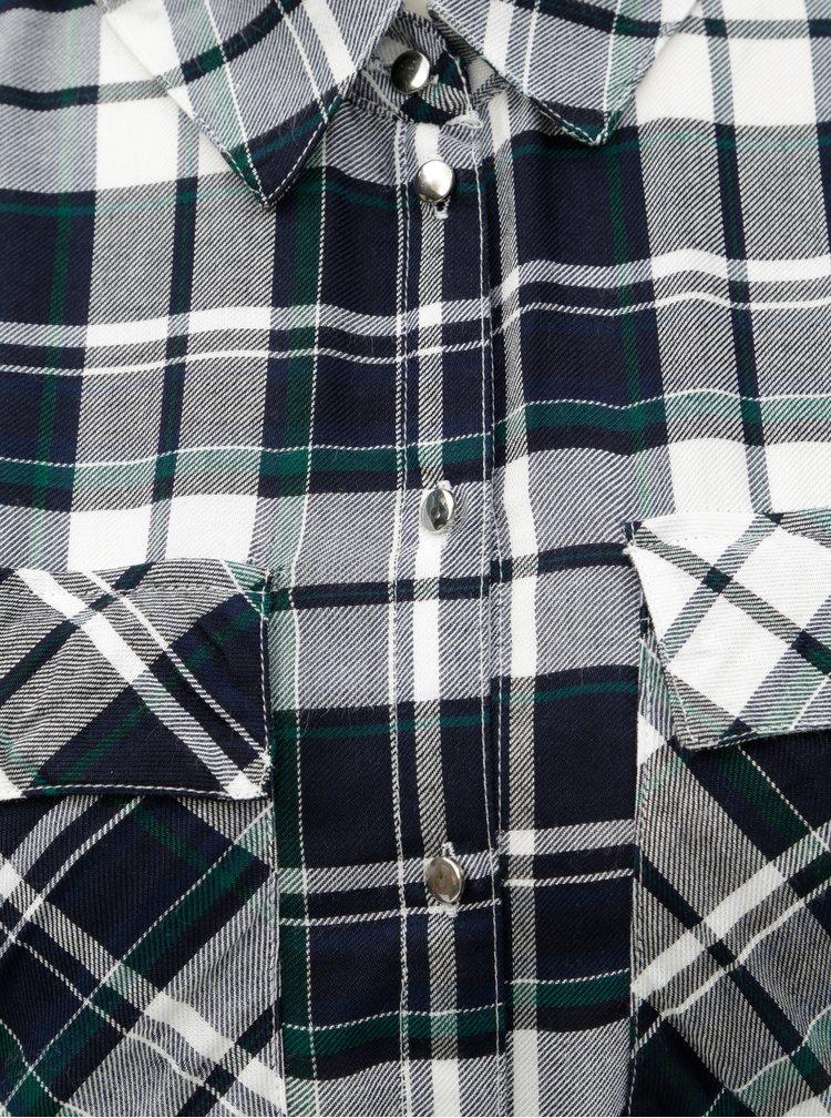 Zeleno-modré kostkované košilové šaty Dorothy Perkins