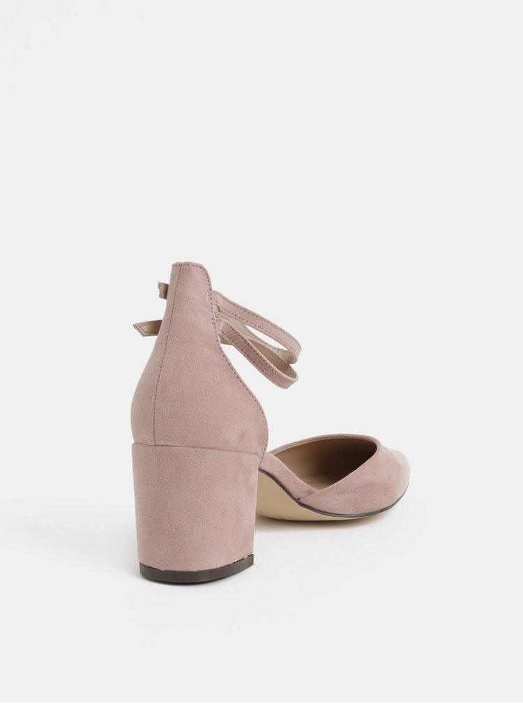 Ružové sandálky v semišovej úprave Dorothy Perkins