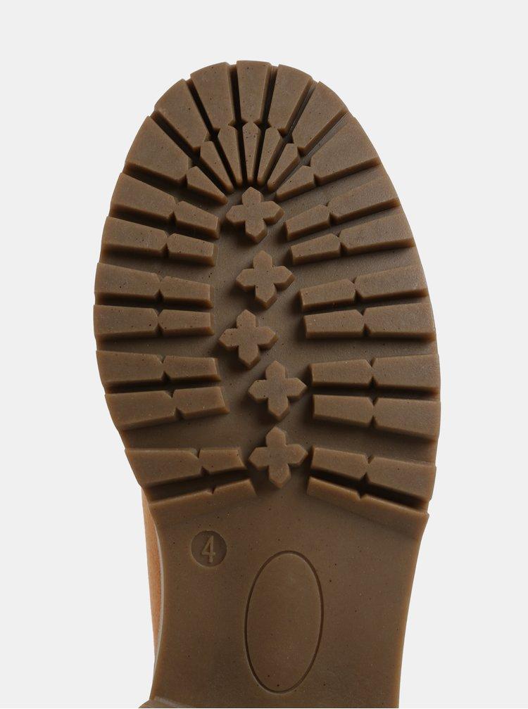 Hnedé členkové topánky v semišovej úprave Dorothy Perkins