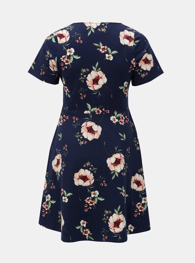 Tmavě modré květované šaty Dorothy Perkins Curve