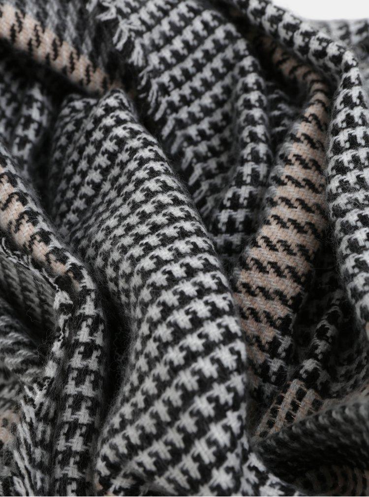 Sivo–čierny vzorovaný šál Dorothy Perkins