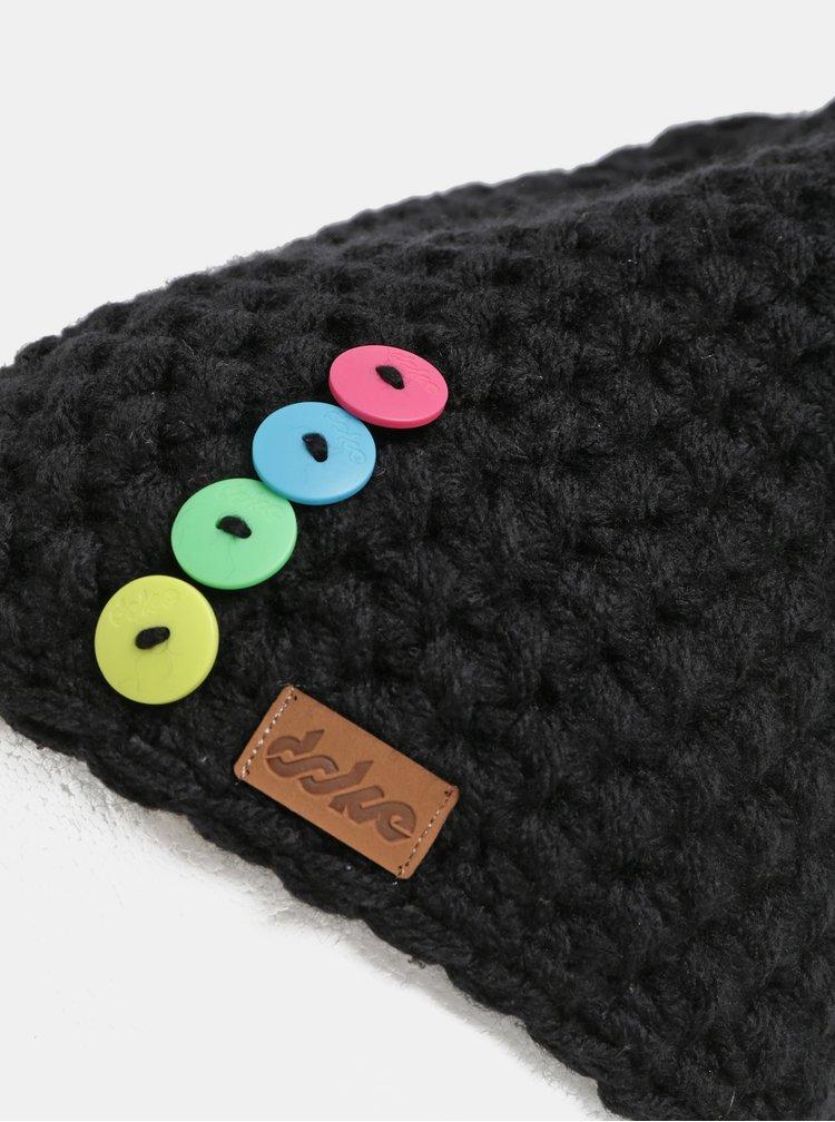 Černá pletená zimní čepice DOKE