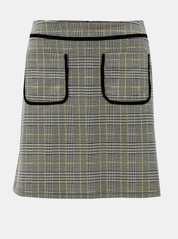 Sivá károvaná sukňa Dorothy Perkins