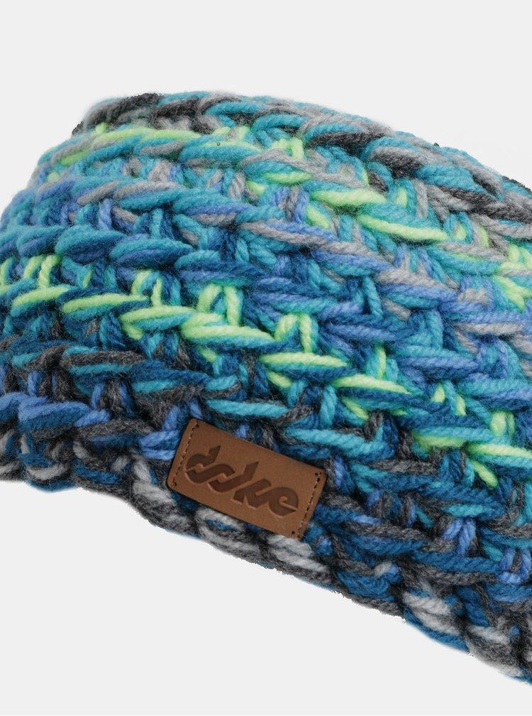 Bentita de iarna impletita verde-albastru DOKE