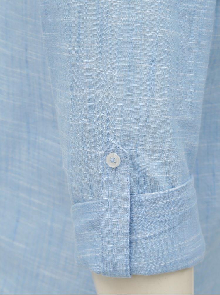 Světle modrá košile s květovanou výšivkou Dorothy Perkins Petite