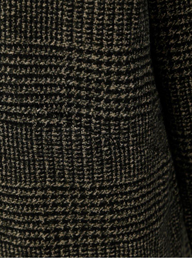 Pardesiu kaki cu model si amestec de lana VERO MODA North