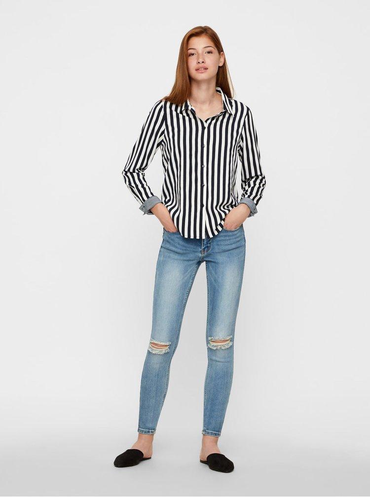 Modro–biela pruhovaná košeľa VERO MODA Nicky