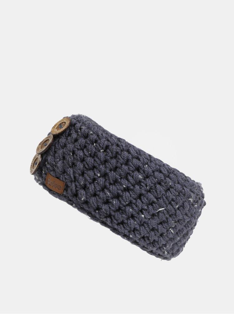 Tmavě modrá čelenka s ozdobnými knoflíky DOKE