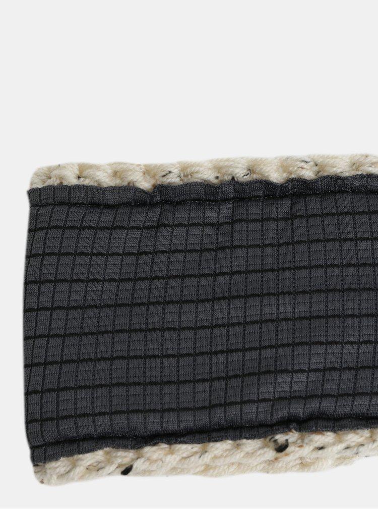 Krémová čelenka s ozdobnými knoflíky DOKE