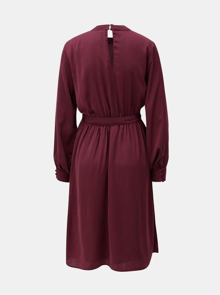 Rochie bordo cu maneci lungi VERO MODA Billia