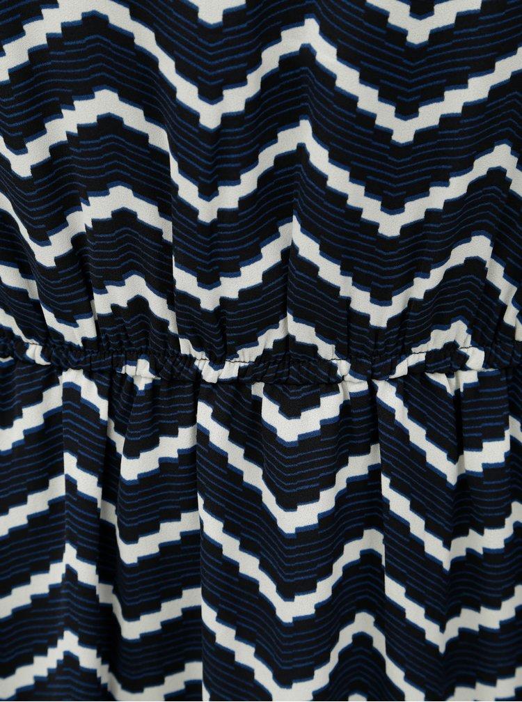 Krémovo-modré vzorované midišaty VERO MODA AWARE Verona