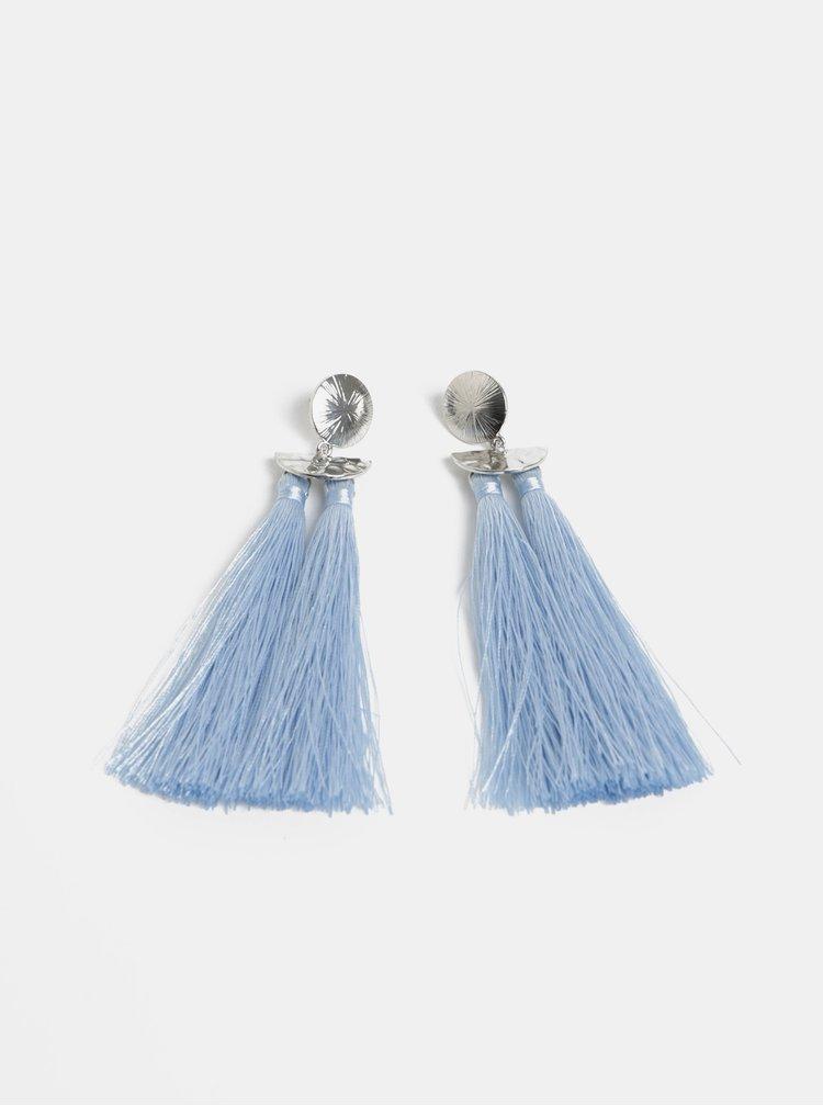 Modré náušnice s třásněmi Pieces Kasia