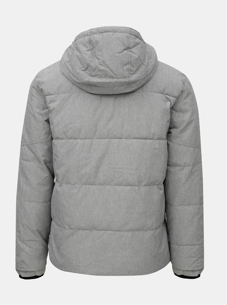 Sivá melírovaná prešívaná bunda Jack & Jones New Will