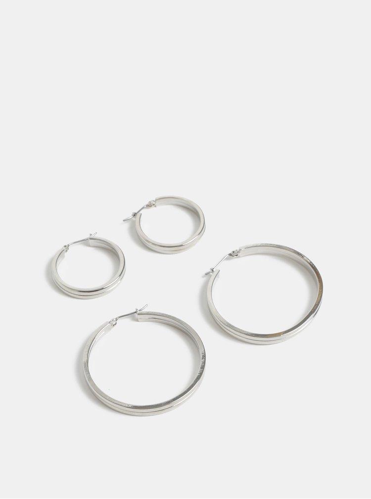 Set de 2 perechi de cercei argintii Pieces Karla