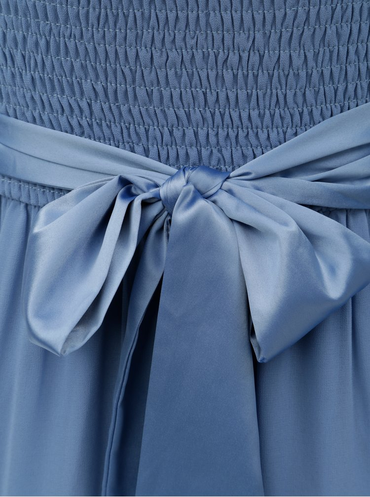 Modré maxišaty se stuhou Dorothy Perkins