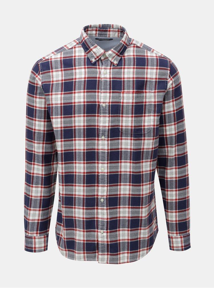 Červeno–modrá károvaná košeľa Jack & Jones Carrick
